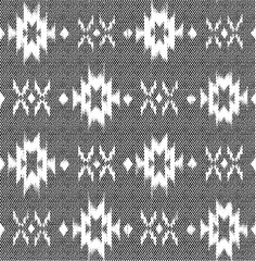 black and white ikat ethnic pattern