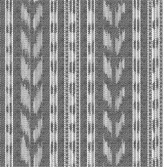 seamless black and white ikat ethnic pattern
