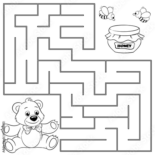 u0026quot help bear find path to honey  labyrinth  maze game for