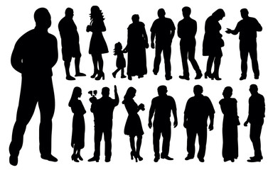 set of people silhouettes, collection