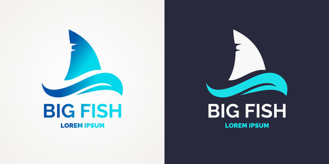 Modern logo for sea fishing.