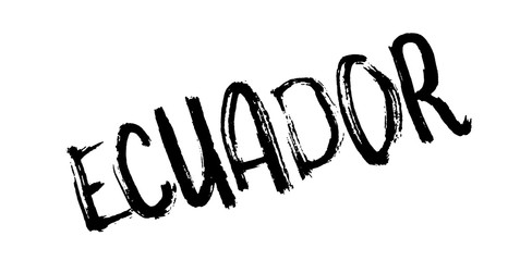 Ecuador rubber stamp. Grunge design with dust scratches. Effects can be easily removed for a clean, crisp look. Color is easily changed.