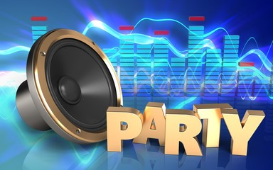 3d party sign loud speaker