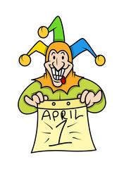 Funny Joker Showing 1st April Banner