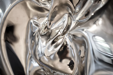 Abstract background of reflections on chrome