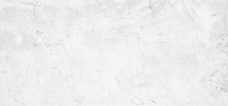 Blank white grunge cement wall texture background, banner, interior design background, banner