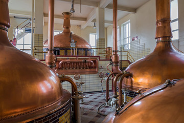 Vintage copper kettle - brewery in Belgium