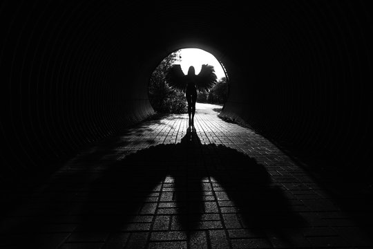 Angel in the tunnel