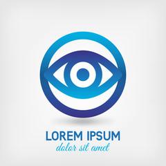 eyes in the lens symbol