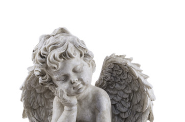 angel antique statue  isolated