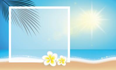 fotorahmen karibischer strand