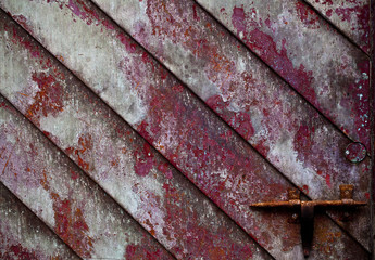 Texture Gate Door Wood Metal Chain Closed Key Background Rough Dirty Grunge Graffiti Black Red Green Lines Ancient Antique Diagonal Strokes Spain Rusty Mystery Fairy Tale Patina Old Vintage Retro