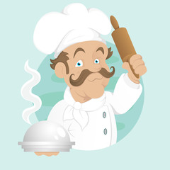 Cook - Cartoon Character - Vector Illustration