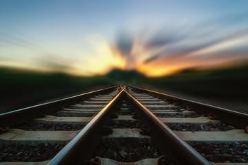 Garden Poster Railroad Change Concept