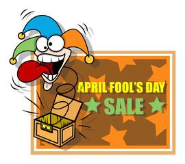 Funny Joker Face - April Fool's Day Banner