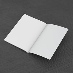 Single Open Book, Catalog Or Brochure Template On Black Background