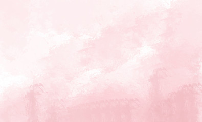Pink watercolor background. Digital drawing.