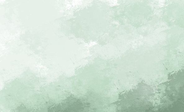 Green watercolor background. Digital painting.