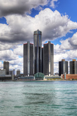 Vertical of the Detroit Skyline