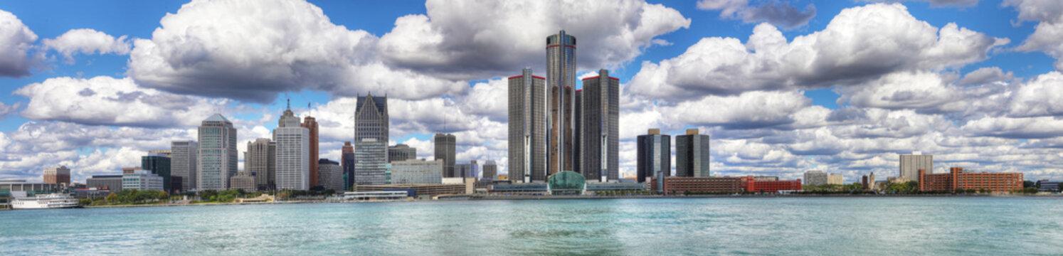 Panorama of the Detroit Skyline