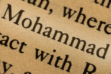 Word mohammed in the text