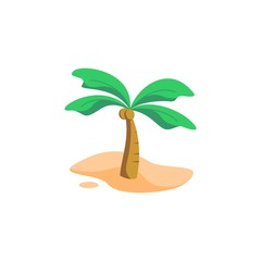 coconut tree vector illustration