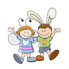 Cartoon Easter Kids Character in Diffrent Costumes