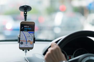 Driver,transport, business trip, destination and people concept Fototapete