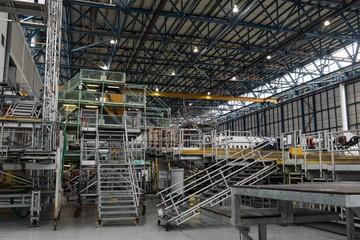 Aircraft maintenance platforms at airlines maintenance facility