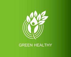 People green healthy logo
