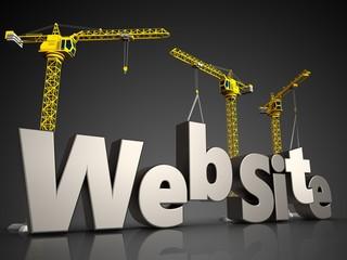 3d web site over black