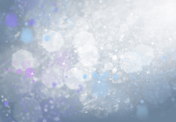 Frosty pattern on the winter