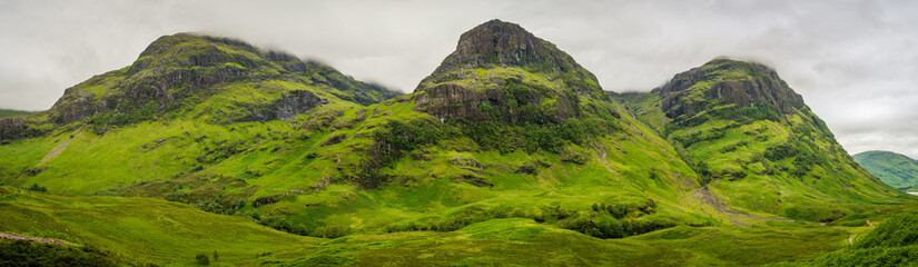 The famous Three Sisters mountains in Glencoe, Scottish Highlands.