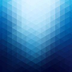Abstract background in isometric style. Color gradient from triangles.