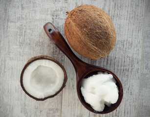 Fresh Coconut and coconut oil