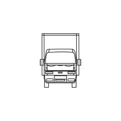 delivery truck outline icon. Truck outline vector