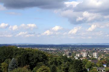 stadtpanorama bielefeld und wiehengebirge