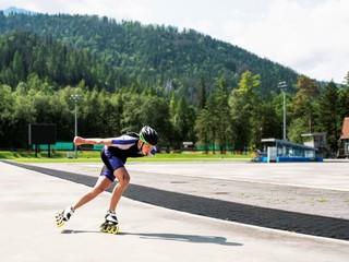 Roller konkings, speed skating, a man on rollers. Rollerblading