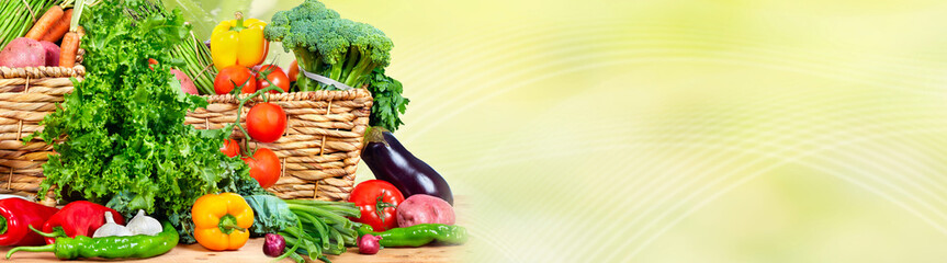 Wall Mural - Food background