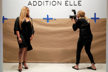 Jordyn Woods is photographed after rehearsals for the Addition Elle Spring/Summer 2018 presentation at New York Fashion Week in Manhattan, New York.