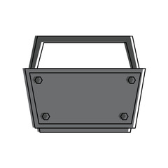 empty toolbox tool icon image vector illustration design