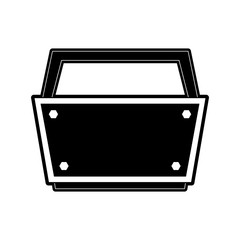 empty toolbox tool icon image vector illustration design  black and white