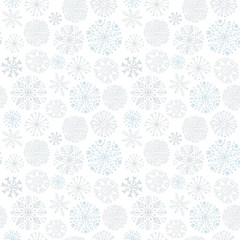 Snowflakes seamless pattern. Winter background. Christmas and New Year design wrapping paper design.