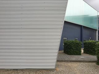 Aluminium facade . Modern architecture
