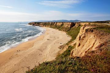 San gregorio state beach and pacific ocean cabrillo hwy s half moon bay ca Fotomurales
