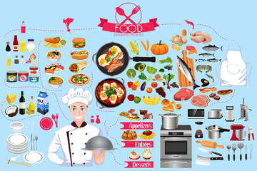 Food Infographics Element Illustration