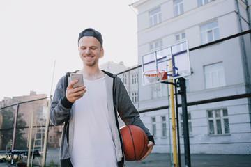 The basketball players