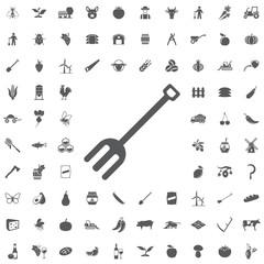 Metal garden forks icon