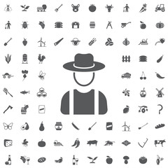 Farmer in hat icon