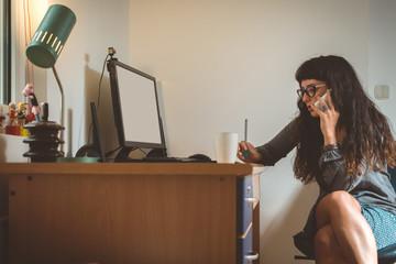 Female Graphic designer at work